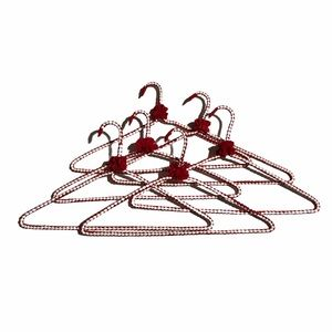 SALE Handmade Fabric Wrapped Hangers red/white6pcs